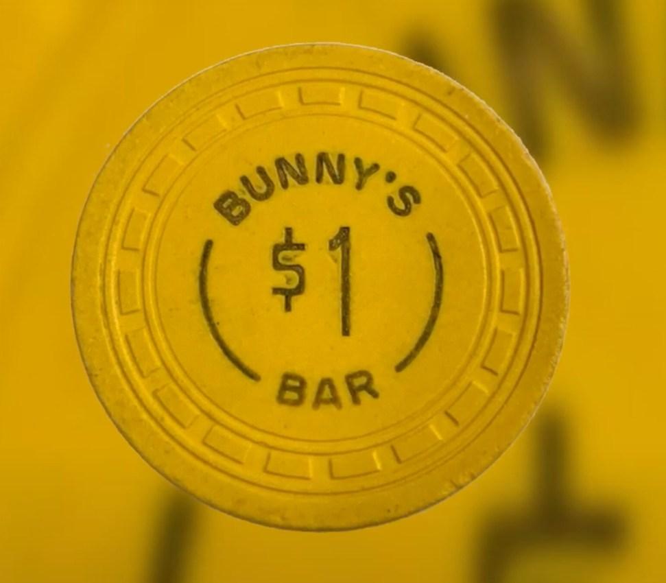 Fiches costose: #5 - $1 Bunny's Bar Las Vegas Vintage