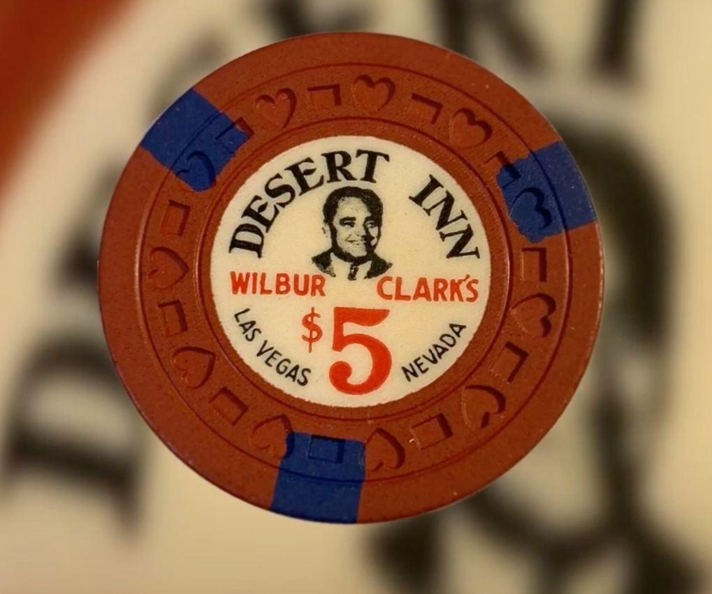 Fiches costose: #8 - $5 Wilbur Clark's Desert Inn Las Vegas Vintage