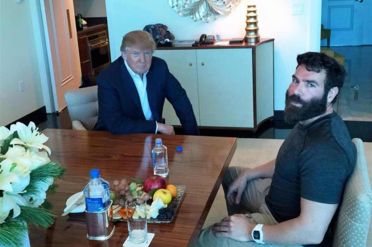 Dan Bilzerian con Donald Trump