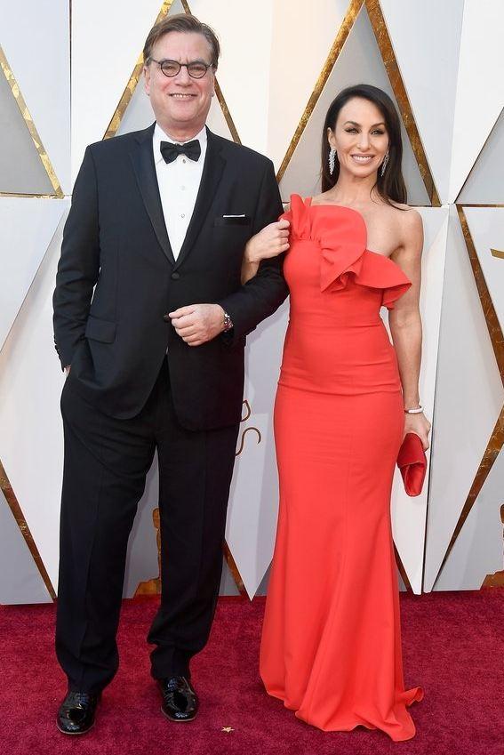 Aaron Sorkin e Molly Bloom al 90º Annual Academy Awards