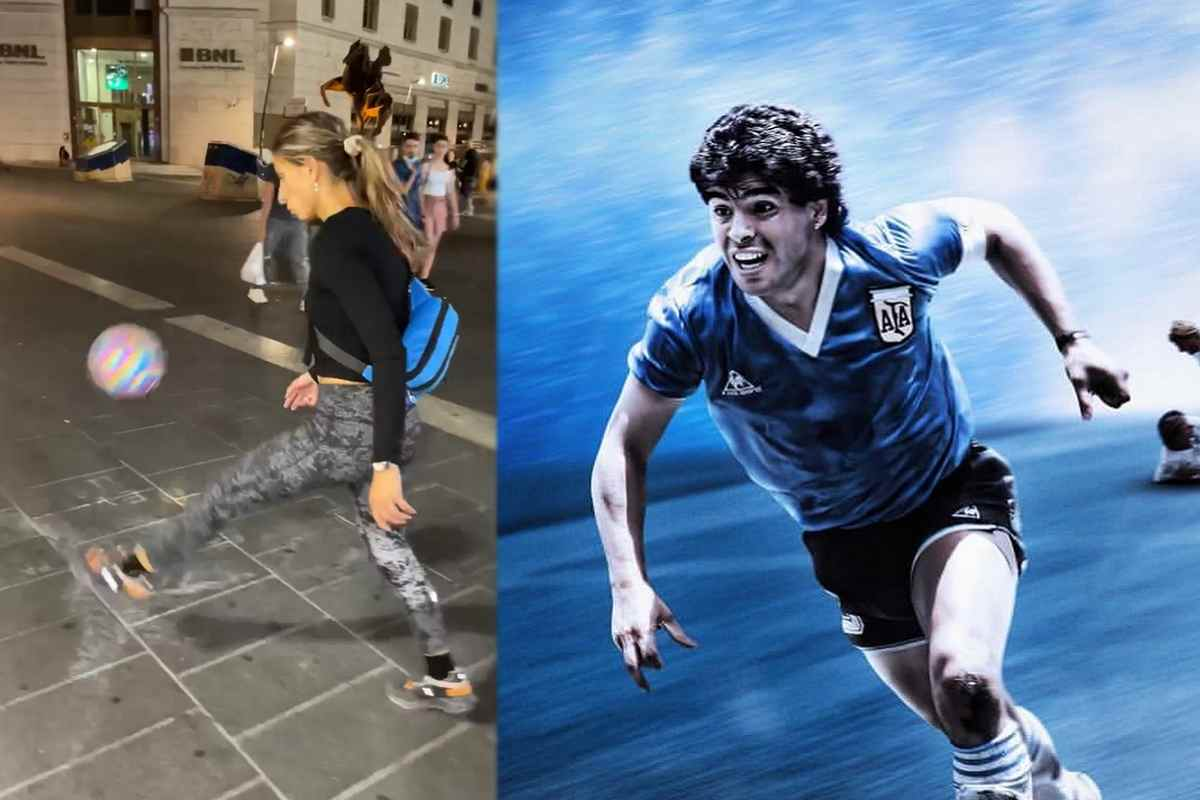 La Popadinova palleggia come Maradona