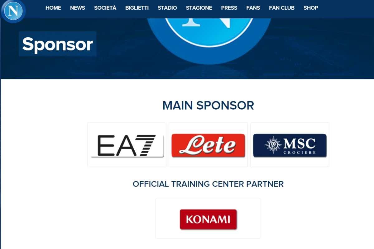 Sponsor Napoli (SSC Napoli)