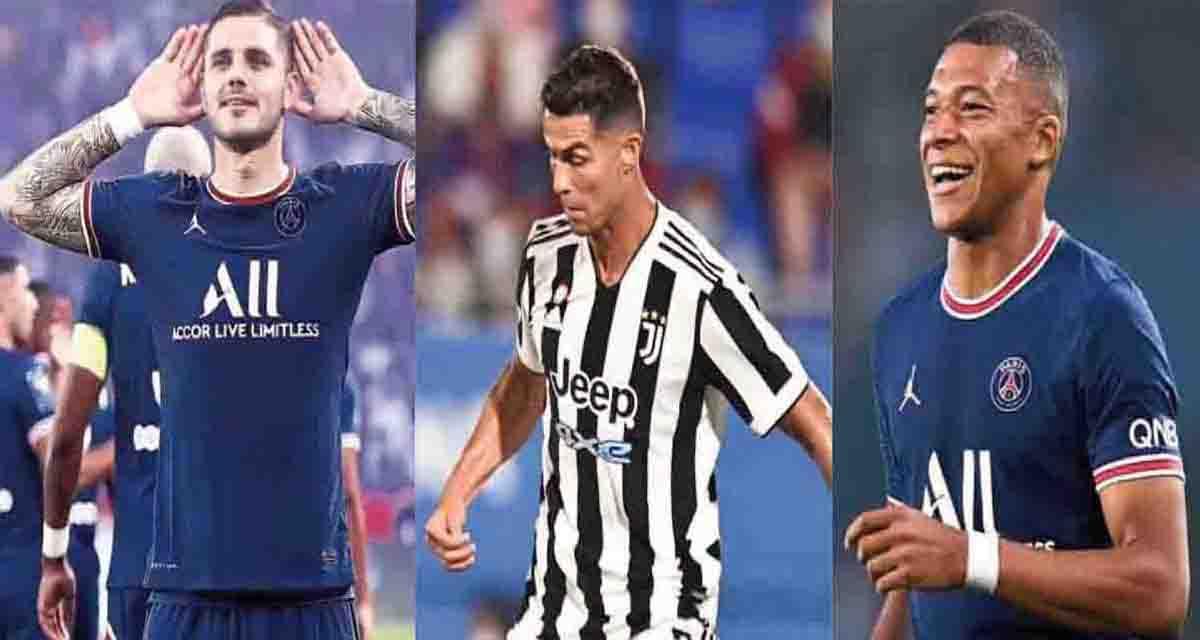 Icardi-Ronaldo-Mbpappè (instagram)