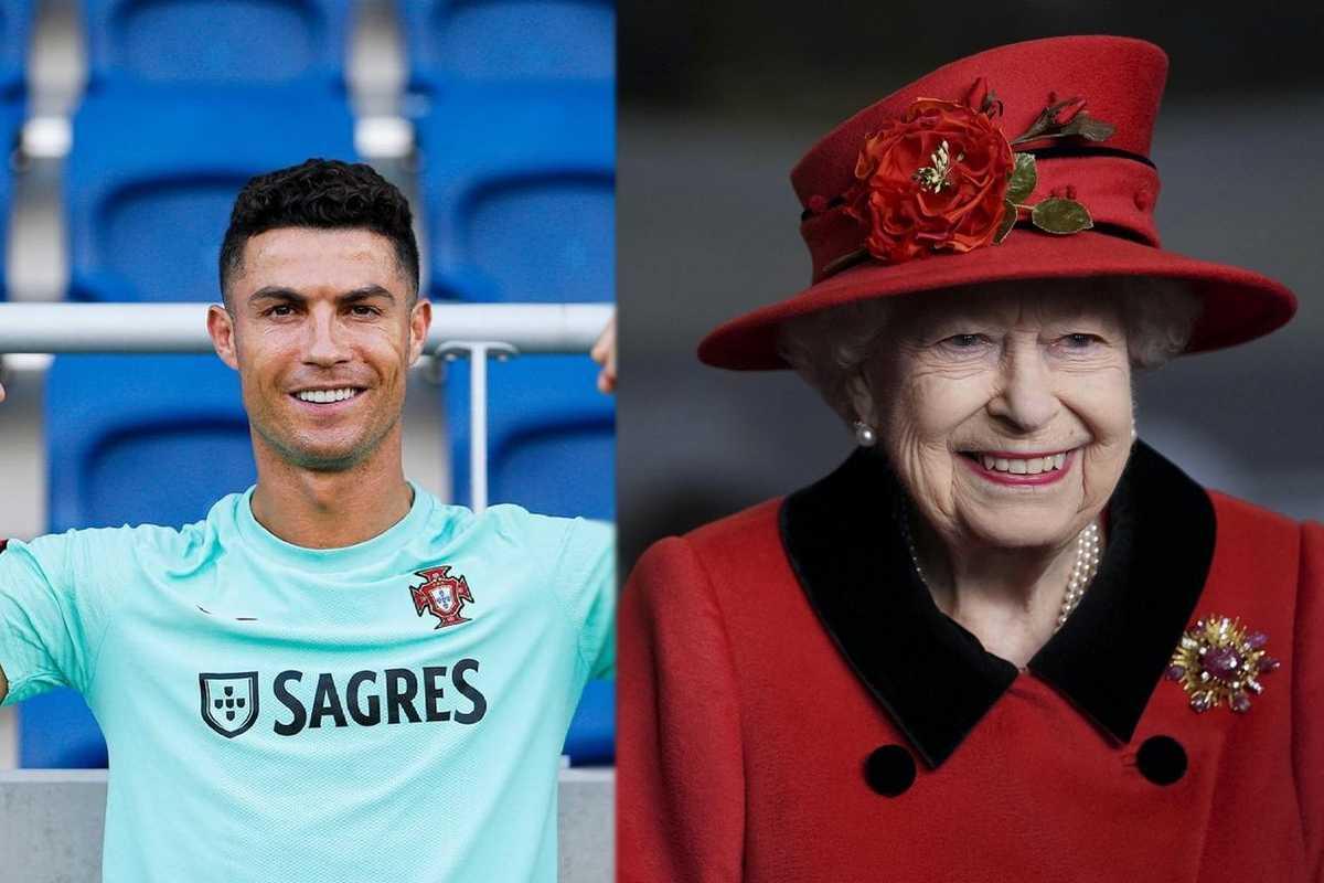 Cristiano Ronaldo e la Regina Elisabetta II (Instagram)