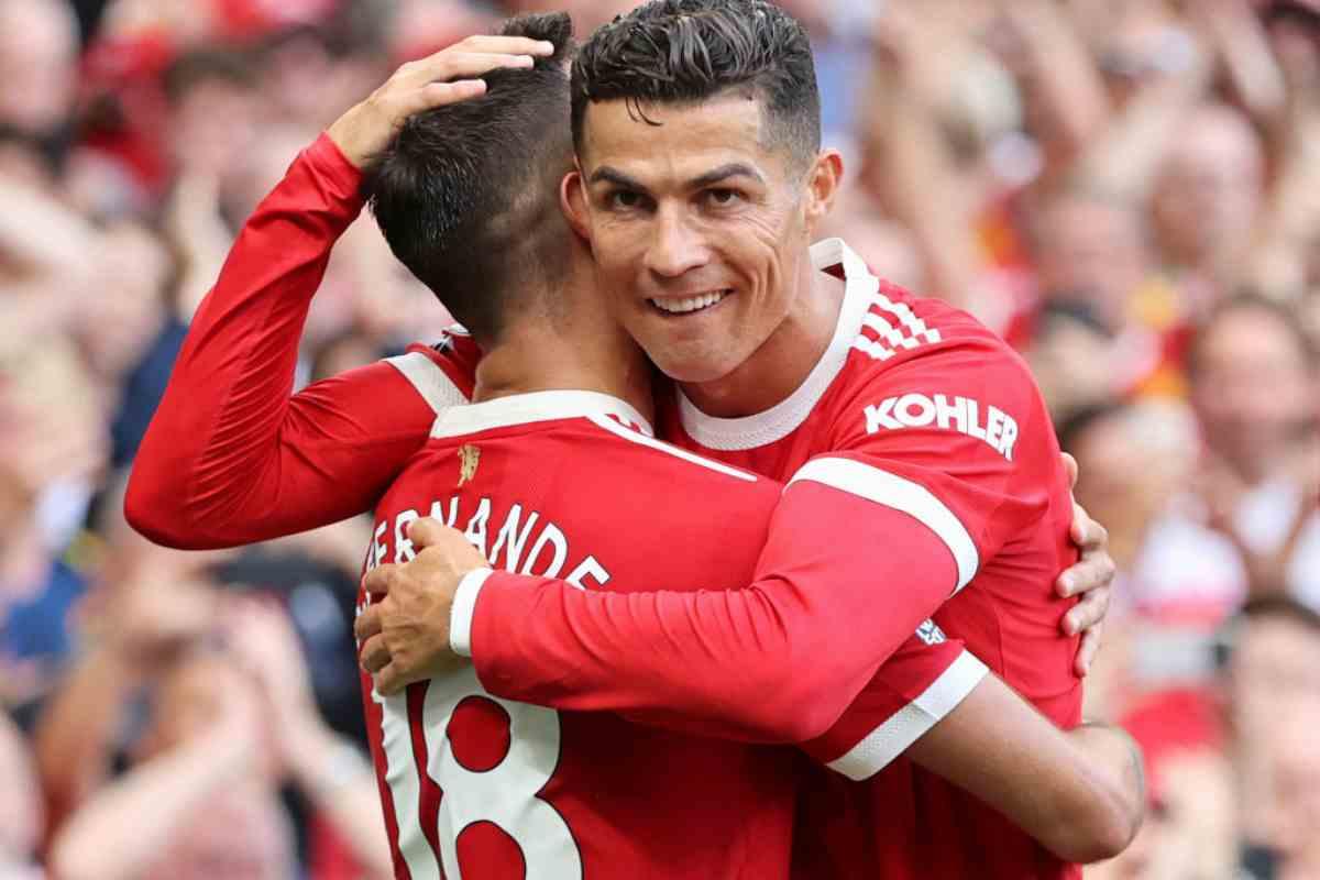 Cristiano Ronaldo e Bruno Fernandes (Getty Images)