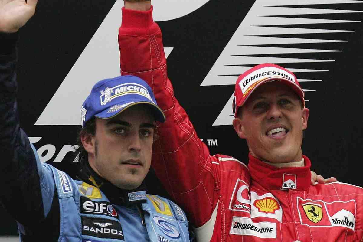 Michael Schumacher e Fernando Alonso (GettyImages)