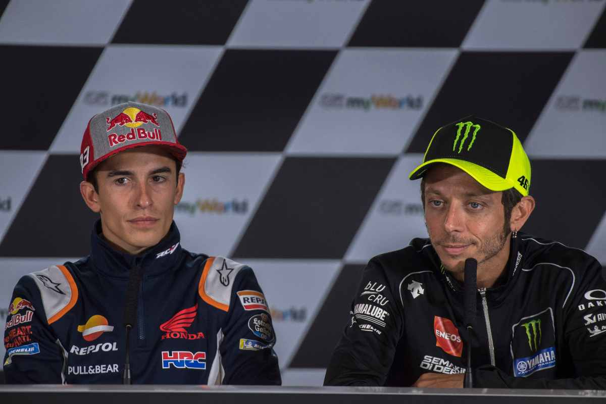 Valentino Rossi e Marc Marquez (GettyImages)