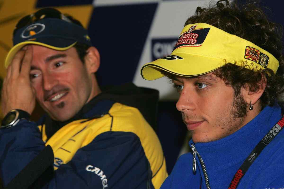 Valentino Rossi e Max Biaggi (GettyImages)